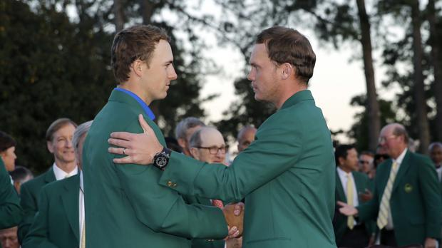 Danny Willett, right, took advantage of a major collapse from Jordan Spieth, left, at the Masters (AP)