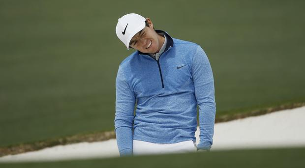 An under-pressure Rory McIlroy fired a closing 71, which featured seven birdies and six bogeys (AP)