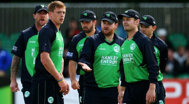 Craig Young, second left, is due to make his debut in Hampshire's 2nd XI match against Somerset next week