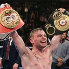 Carl Frampton, pictured, defeated Scott Quigg in an all-British showdown in February