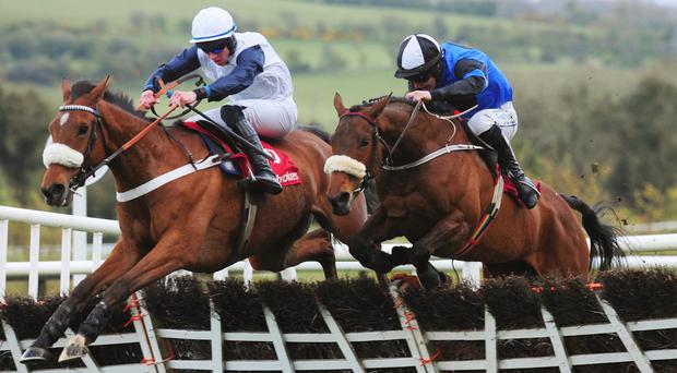 One Track Mind (left) on his way to Grade One Glory
