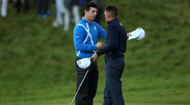 Rory McIlroy, left, and Rickie Fowler