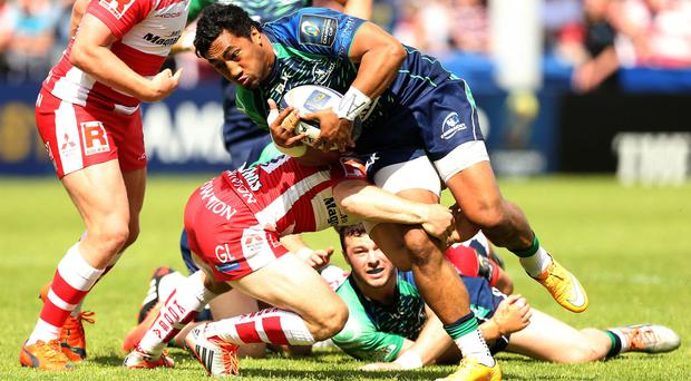 Connacht's Bundee Aki scored a try in the win over Glasgow