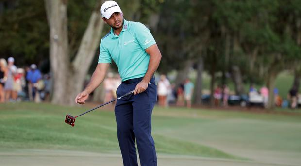 Jason Day remains four ahead at Sawgrass (AP)