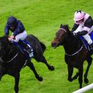 Caravaggio (left) proves too good at the Curragh