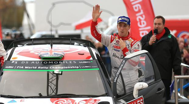 Kris Meeke holds the lead heading into the final day of the Rally of Portugal