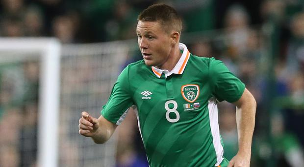 Republic of Ireland midfielder James McCarthy continues to battle a thigh problem