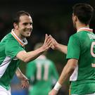 Republic of Ireland defender John O'Shea, left, is confident of a better showing at Euro 2016