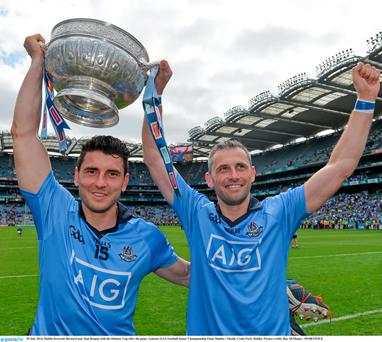 Brothers in arms: Bernard and Alan Brogan with the Delaney Cup. The pair have paid €8m for the Pillo Hotel in Ashbourne