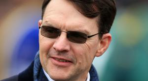 Aidan O'Brien's colt Washington DC was a class apart when easily disposing of his rivals in a Listed race at Navan last month (PA)