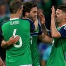Will Grigg scored his first Northern Ireland goal on Friday night