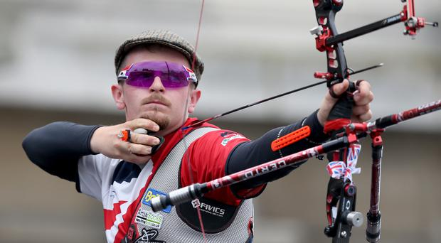 Patrick Huston claimed team silver and individual bronze