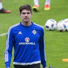 Kyle Lafferty won his 50th cap against Belarus on Friday