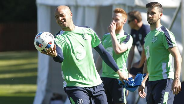 Darren Randolph, left, is preparing for the Euro 2016 finals