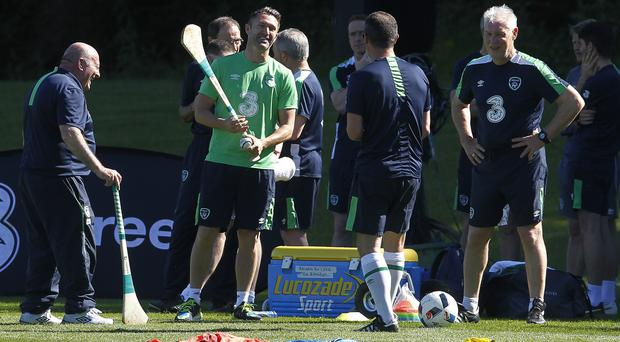 Republic of Ireland skipper Robbie Keane is battling his way back from a calf injury
