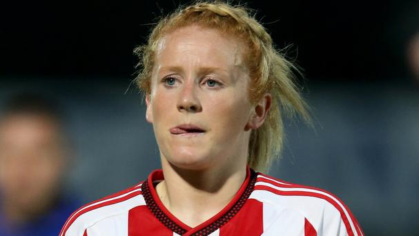 Rachel Furness played for Northern Ireland during the 3-0 defeat in the Czech Republic