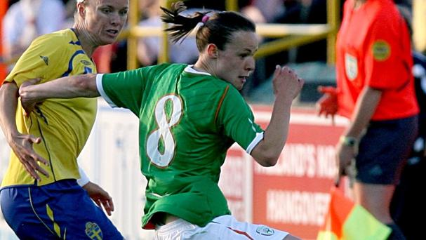 Republic of Ireland's Aine O'Gorman scored a hat-trick in a rout of Montenegro
