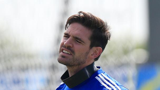Kyle Lafferty was in good spirits on Friday morning