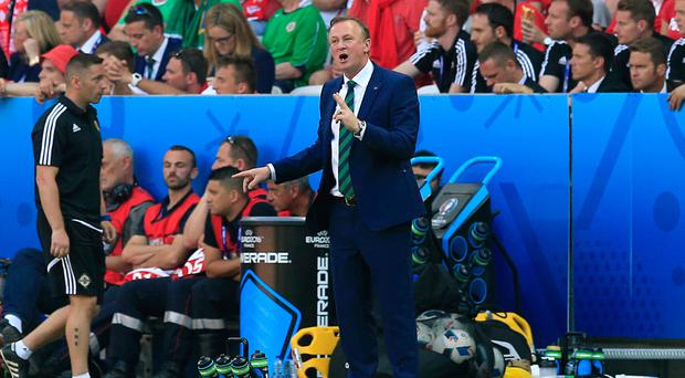 Michael O'Neill could not guide Northern Ireland to a positive result in Nice