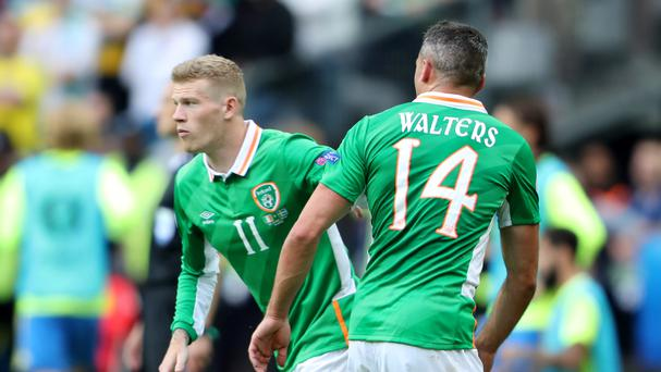 James McClean, left, could come in for Jonathan Walters