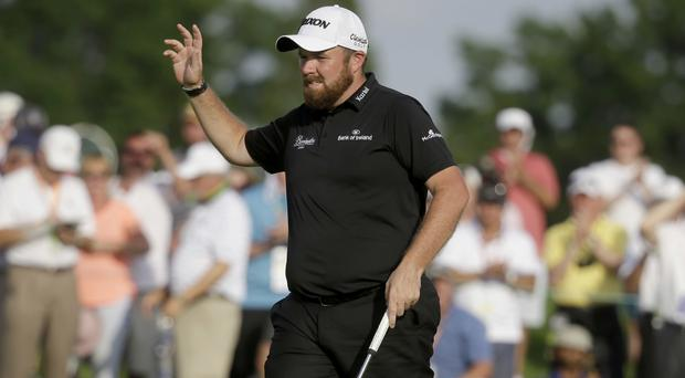 Shane Lowry was leading the way in the delayed US Open at Oakmont (AP)