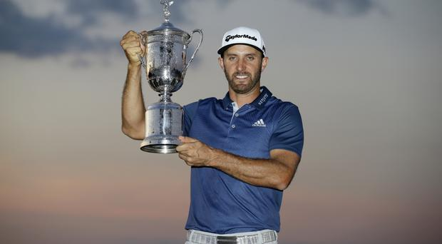 Dustin Johnson won the US Open after a controversial final round (AP)