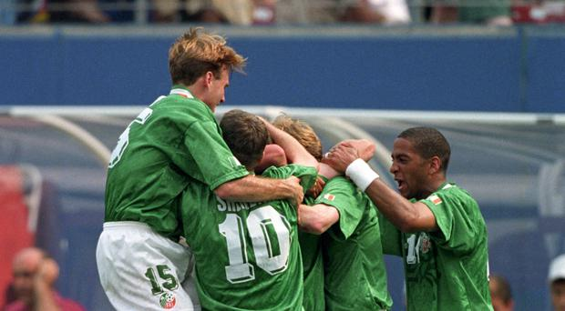 Ray Houghton's goal against Italy sparked wild celebrations on the pitch and off it.