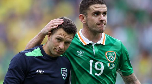 Wes Hoolahan, left, clipped the ball over the top of the Italian rearguard for Robbie Brady to head home the winner