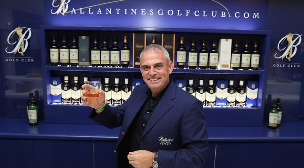 Paul McGinley of Ireland poses for a photograph during the Ballantine's Golf Club Media Event