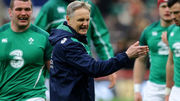 Joe Schmidt with the Ireland squad. Picture Credit: PA