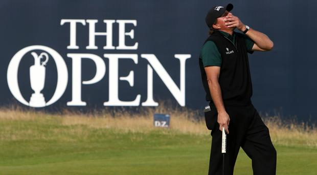 Phil Mickelson agonisingly missed out on a 62 at Royal Troon