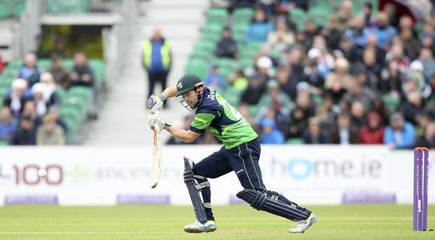 Ireland's Ed Joyce hit a career-best 160 not out to help defeat Afghanistan at Stormont