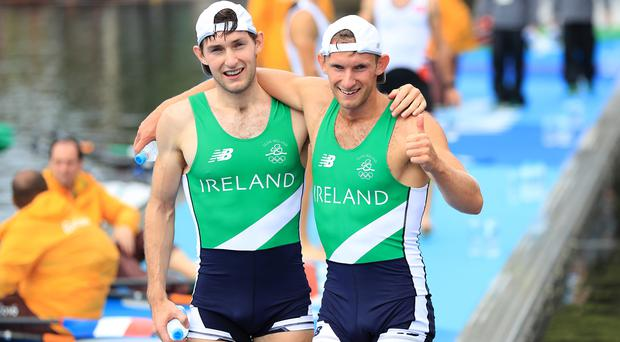 Gary O'Donovan, right, and Paul O'Donovan made history for Ireland