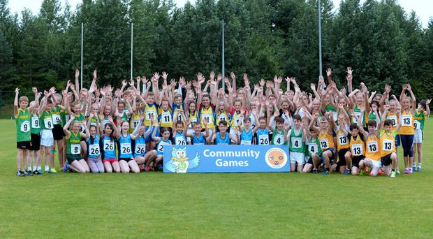 The cross-country runners get ready for action in the 2016 Community Games National Festival at Athlone Institute of Technology. Picture: Caroline Quinn