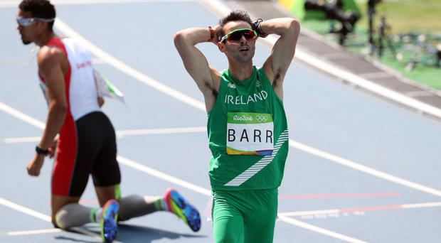 Thomas Barr set a national record - but it was not enough to claim a podium place
