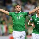 Martin O'Neill has named a 28-man squad for the friendly against Oman and the World Cup qualifier against Serbia