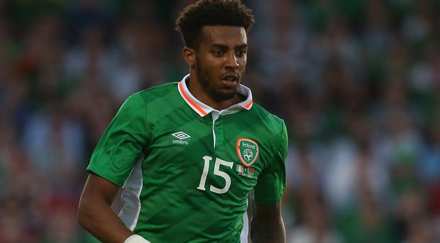 Republic of Ireland full-back Cyrus Christie, pictured, is ready to fill Seamus Coleman's boots in Belgrade