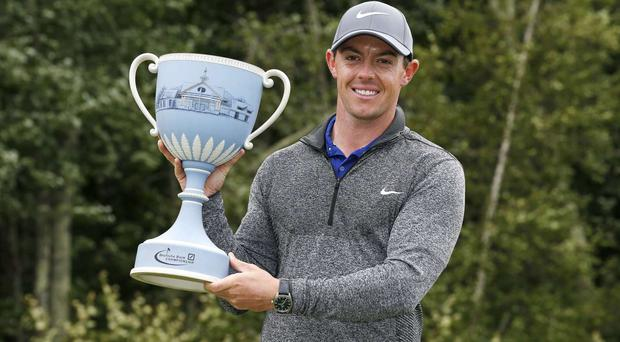 Rory McIlroy was triumphant in Boston (AP)