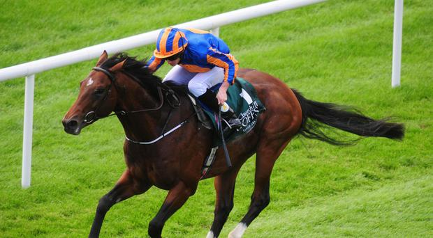 Churchill takes the Vincent O'Brien National Stakes at the Curragh