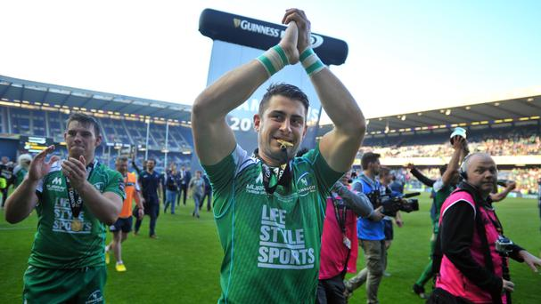 Tiernan O'Halloran scored Connacht's only try before their match at Zebre was abandoned