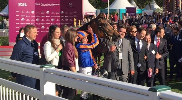 Found after winning the Arc