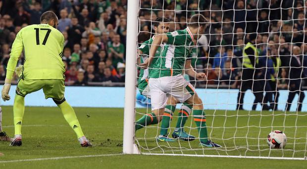 Seamus Coleman bundles the ball in to earn the hosts all three points