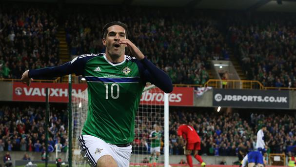 Kyle Lafferty bagged a brace at Windsor Park