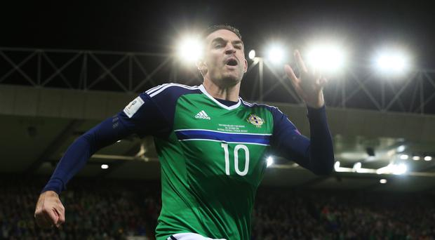 Michael O'Neill is keen to get the best out of Kyle Lafferty, pictured, for Northern Ireland