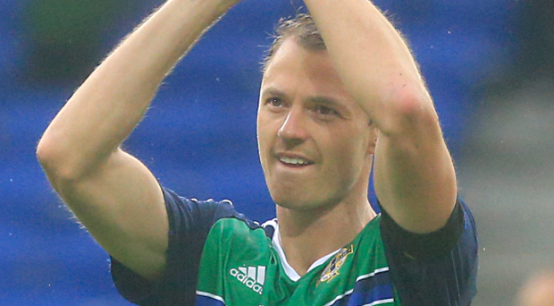 Northern Ireland player Jonny Evans admits that his side's encounter with Germany will be tough Photo: PA News