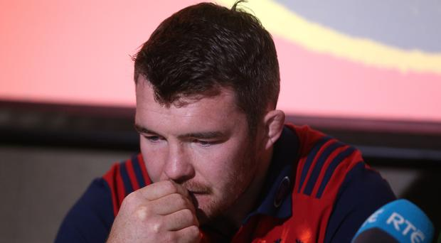 Munster captain Peter O'Mahony broke down in tears while paying tribute to Anthony Foley