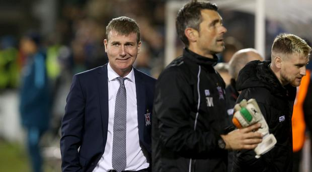 Stephen Kenny, left, was left to lament the fine margins which prevented his side adding to the four points gained in their opening two Group D fixtures