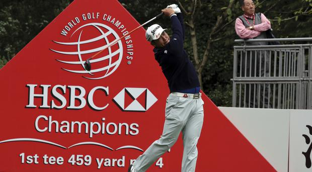 Hideki Matsuyama leads defending champion Russell Knox by three shots at the halfway stage in Shanghai (AP)