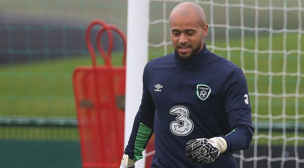 West Ham and Ireland goalkeeper Darren Randolph