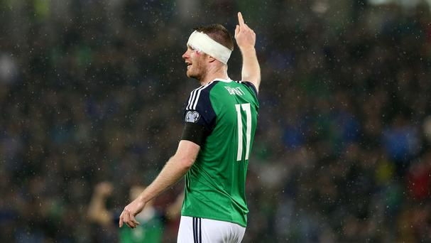 Chris Brunt created two goals on his return to the Northern Ireland team